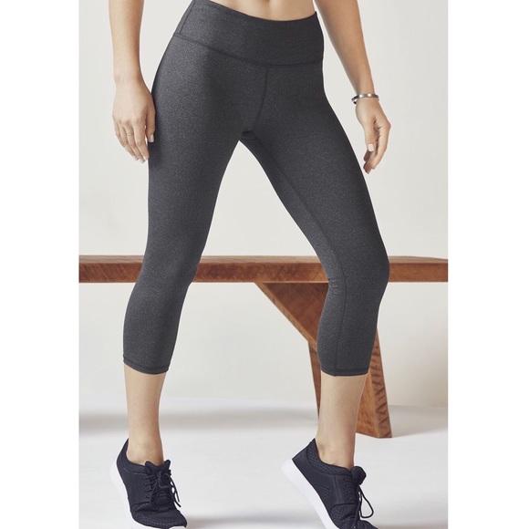 6816b7faf4336 Fabletics Pants | Heather Grey Salar Solid Powerhold Capri | Poshmark